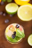 cocktail fresco com hortelã, toranja