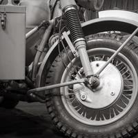 rueda delantera de la motocicleta foto