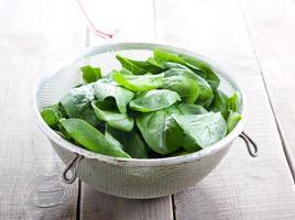 Wet spinach