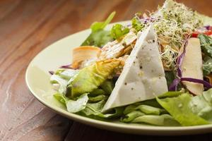 Salad with goat cheese and radicchio