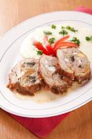 Veal roulade stuffed with minced meat