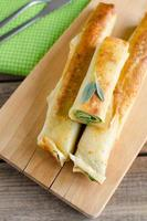 panqueques con espinacas y queso ricotta foto