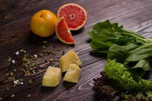 ingredientes para a salada.