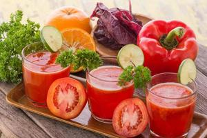 Red Vegetables Mix Juice photo