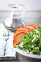 Fresh Arugula and Spinach Salad with Chevre and Nectarine photo