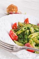 noedels met spinazie