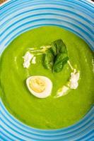 Spinach cream soup