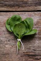 Spinach on the table