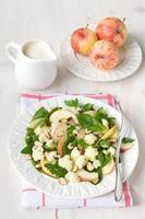 Cauliflower salad with apples and nuts