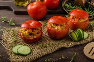 Grilled tomatoes stuffed