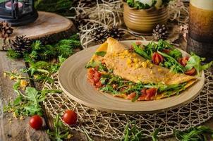 Vegetarian omelette photo