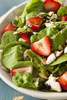 Organic Healthy Strawberry Balsamic Salad