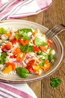 risotto de verduras foto