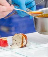 Food preparing Lamb Roulade photo