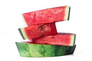 Stack of watermelon slices. photo