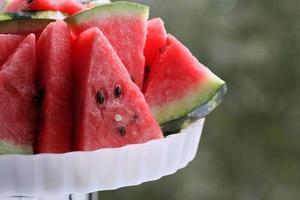 prato de fatias de melancia