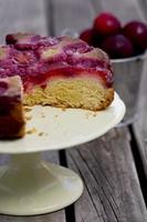 Upside Down Plum Cake - Vertical
