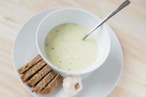 Garlic soup photo