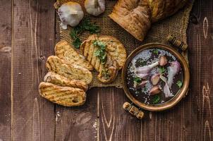 Garlic bruschetta photo