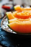 Fresh melon with ice photo