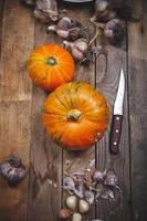 Pumpkins and garlic