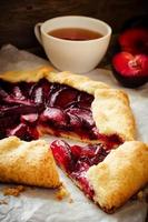 Galette with plums