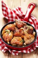 Roasted chicken with garlic
