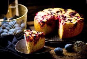homemade plum cake photo