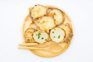 budín caliente de coco tailandés foto