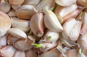 Garlic cloves closeup photo