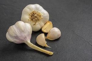 garlic on slate plate