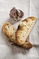 Garlic bread toasts photo
