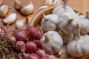 Shallots garlic onion photo