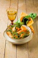 salada de melão e rúcula