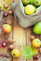 composición otoñal de frutas foto