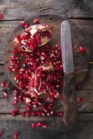 semillas de granada foto