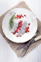 herring with sour cream and dill