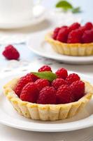Tartlets with raspberries