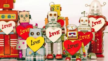 robot family photo