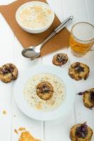 Creamy onion - garlic soup photo