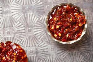 Extreme hot asian chillies garlic sauce