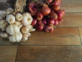 Ingredients of Thai Food, garlic and red onions