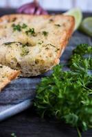 garlic and parsley healthy ciabatta