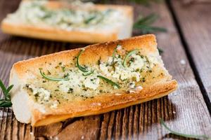 Fresh made Herb Butter Baguettes photo