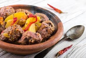 Turkey cutlets with pepper