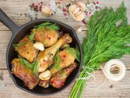 gebraden kip met knoflook en dille