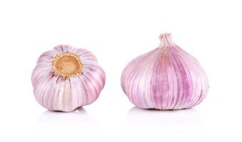 Garlic isolated on the white background photo
