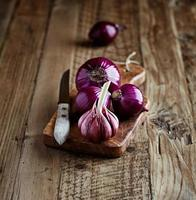 Onions and Garlic Bulbs