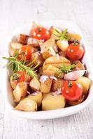 baked potato and tomato photo
