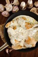 Georgian chicken with creamy garlic sauce